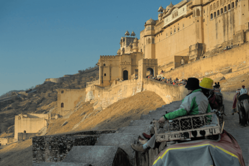 Elephant ride in Amber Fort Jaipur
