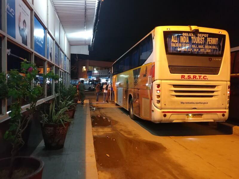 Delhi Jaipur Volvo Bus Rajasthan Roadways