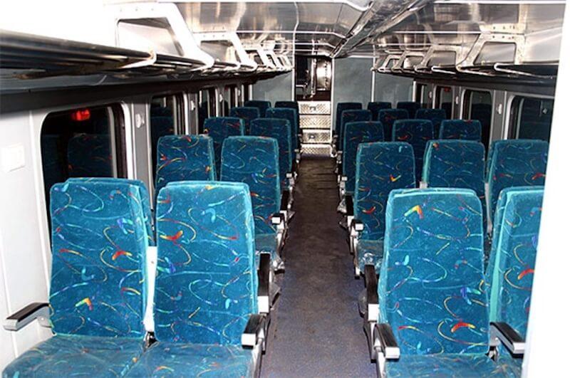 Double Decker Delhi to Jaipur Train interior