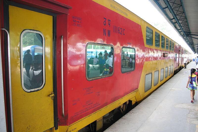 Double Decker Delhi to Jaipur Train