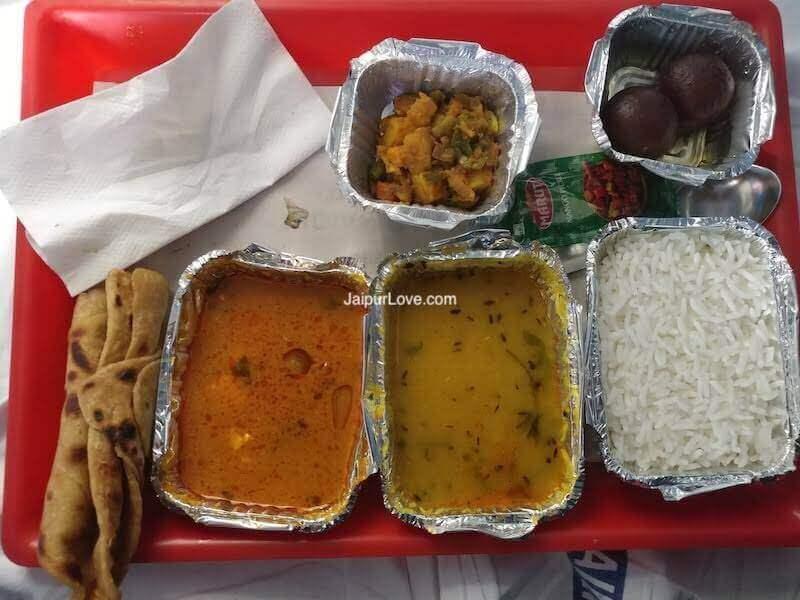 Mumbai Jaipur Duronto Food
