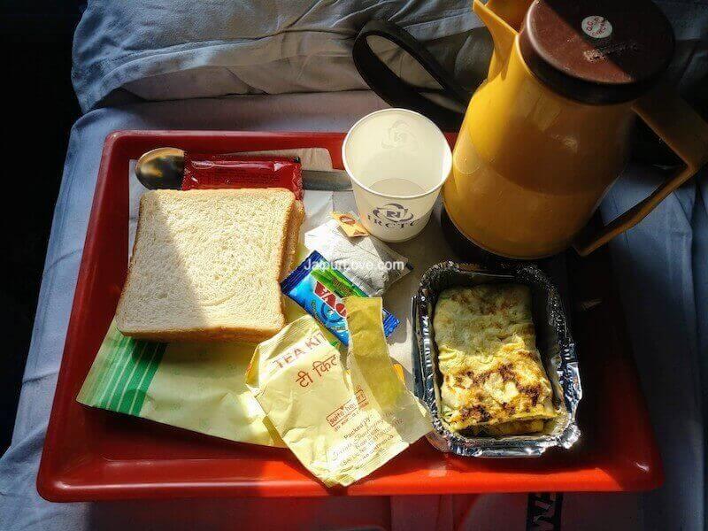 mumbai jaipur Duronto Food Timings