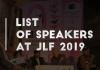 List of Speakers at JLF 2019