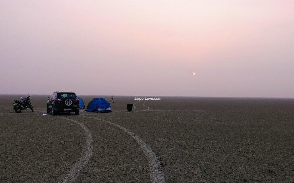 sambhar lake camping