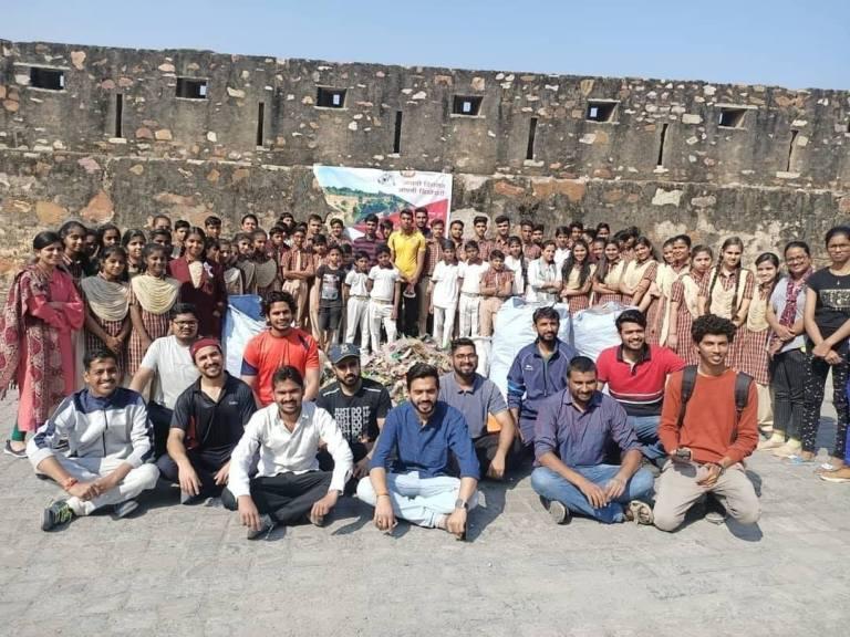 Volunteers at Chittorgarh Fort