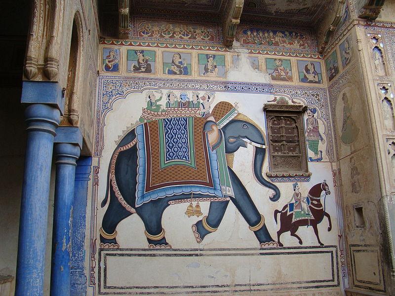 Frescos in Mandawa